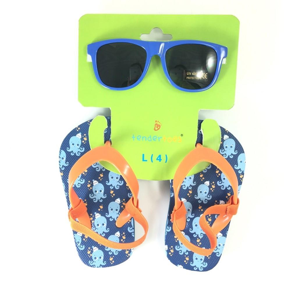 Buy Toddler Blue Octopus Sunglasses Amp Flip Flops Set
