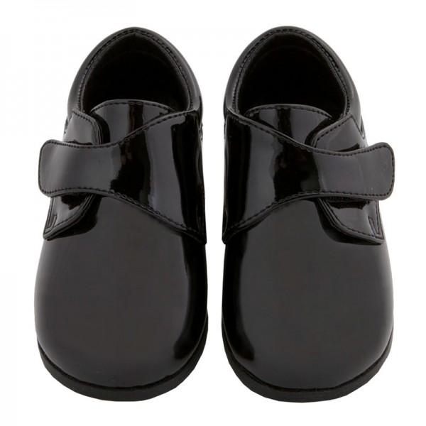 Tickle-toes Boy Black Dress Shoe Boys Patent with Laces