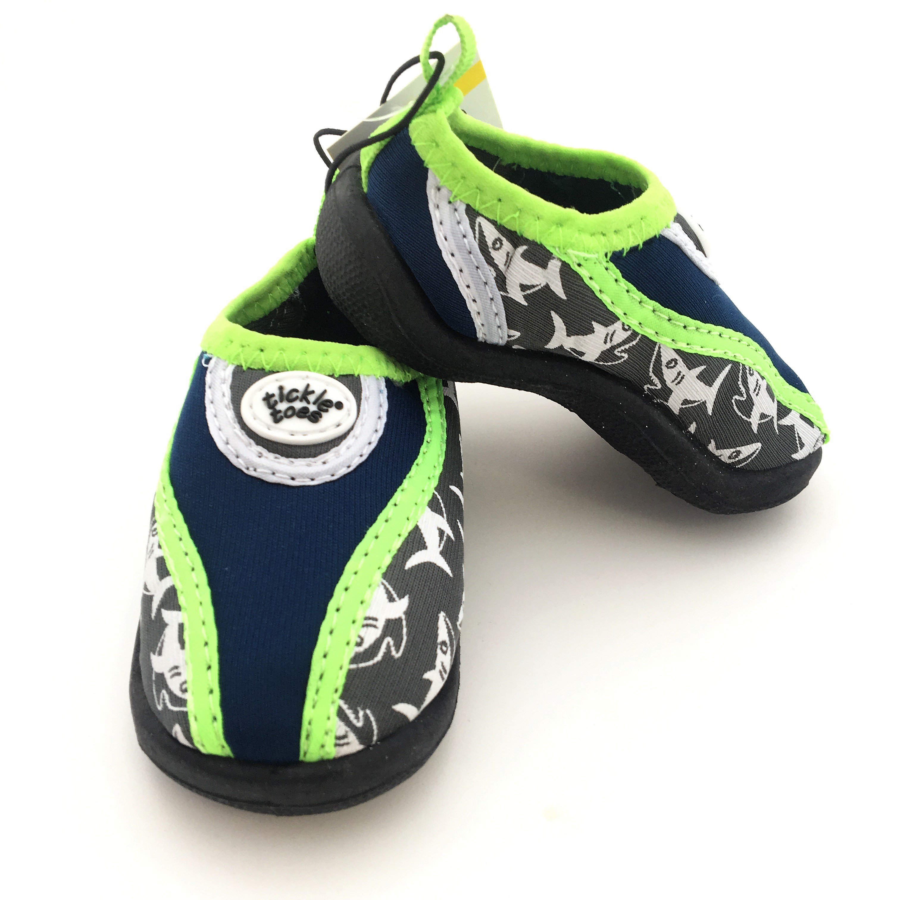 Baby Shark Water Shoes Navy Amp Green Tickle Toes