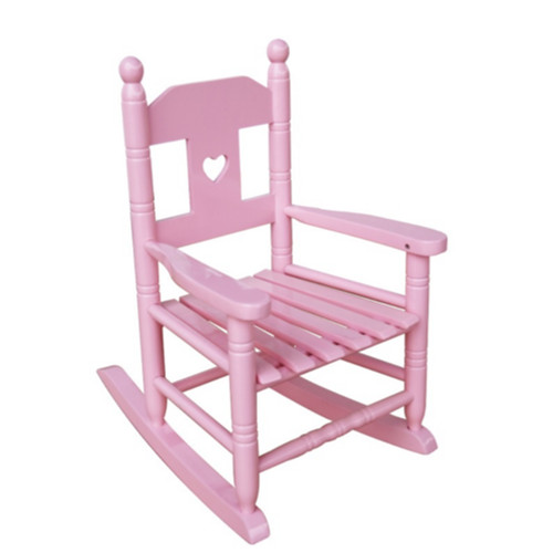 Swell Kids Pink Classic Rocking Chair With Heart Design Ibusinesslaw Wood Chair Design Ideas Ibusinesslaworg